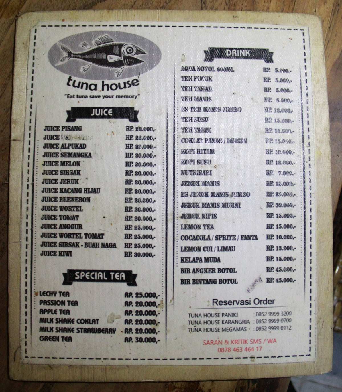 Mencicipi Lezatnya Seafood ala Tuna House Megamas Manado
