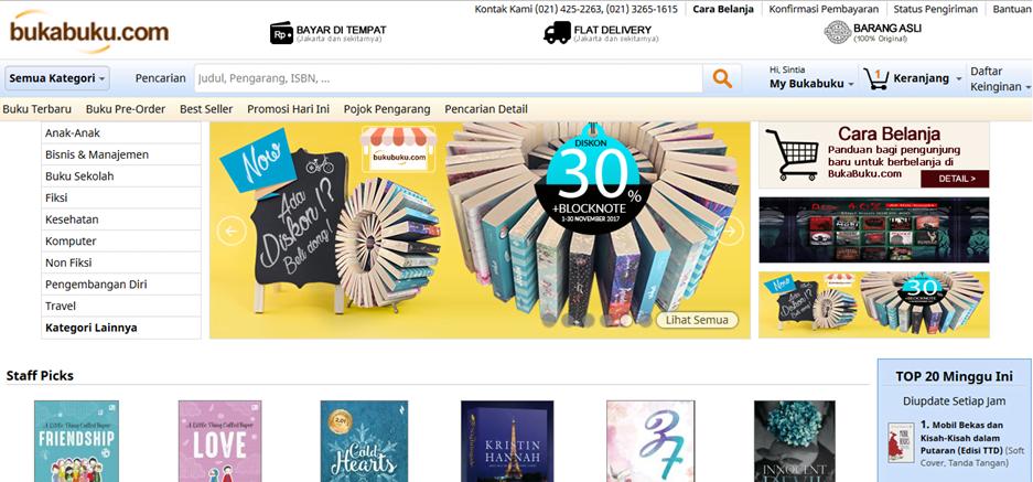 7 Rekomendasi Toko Buku Favorit Buat Beli Buku Online