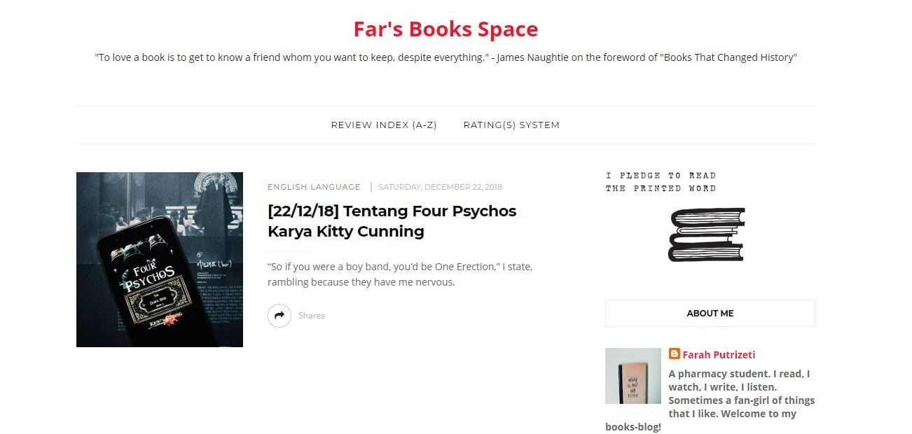 Farah Putrizeti - Far's Book Space
