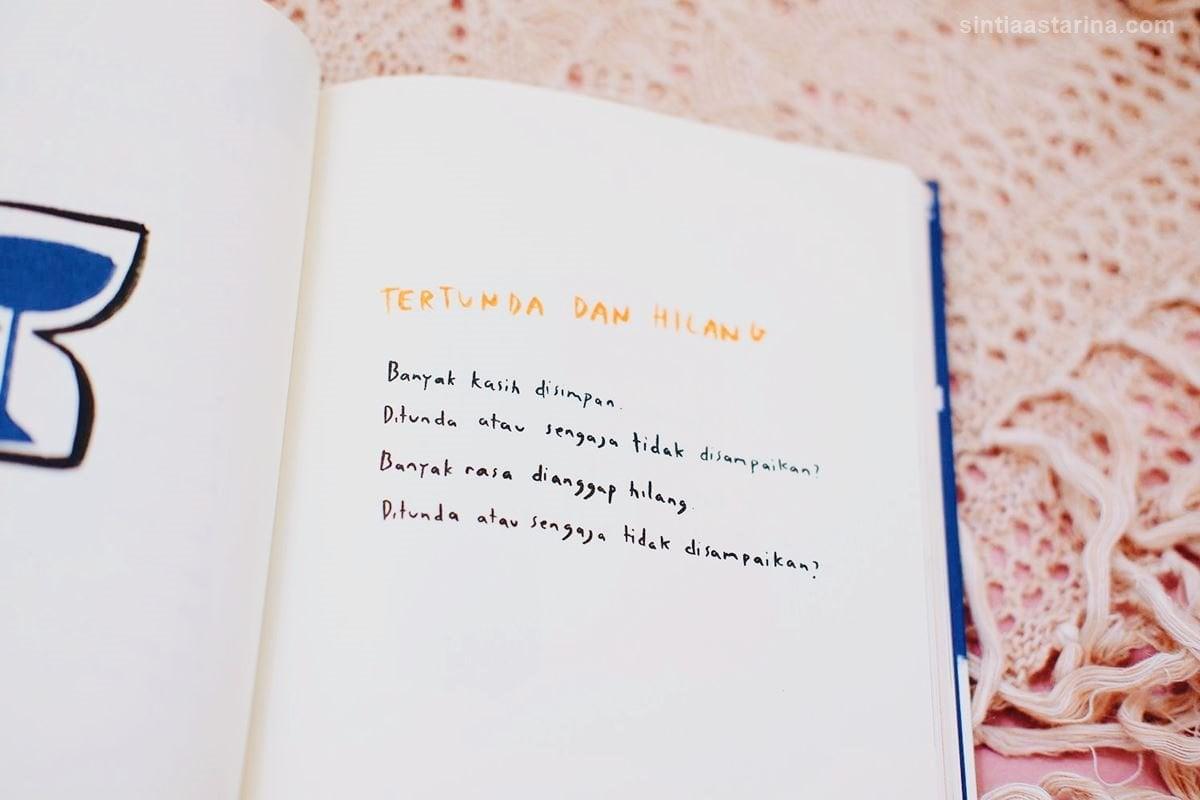 Tertunda dan Hilang, salah satu kutipan favorit di buku KTBB
